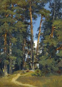 Art prints of Woodland Grove by Ivan Shishkin
