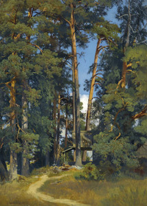 Art prints of Woodland Grove by Ivan Shishkin