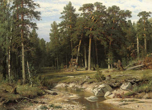 Art prints of Mast Pine Forest in Viatka Province by Ivan Shishkin