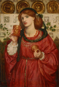Art prints of The Loving Cup by Dante Gabriel Rossetti