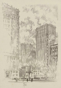 Art prints of Battery Park, New York by Joseph Pennell