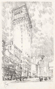Art prints of The Flat Iron by Joseph Pennell