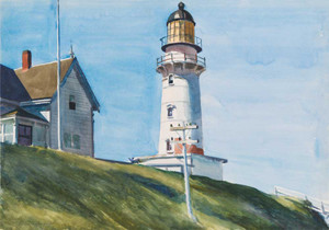 Art prints of Light at Two Lights by Edward Hopper