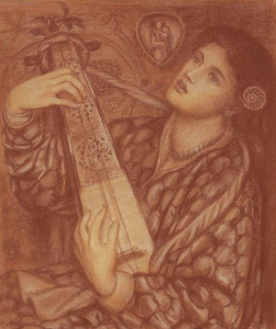 Art prints of A Christmas Carol II by Dante Gabriel Rossetti