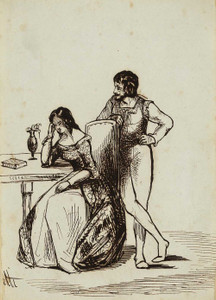 Art prints of Illustration to the Tales of Sorrentino by Dante Gabriel Rossetti