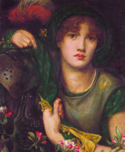 Art prints of My Lady Greensleeves by Dante Gabriel Rossetti