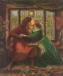Art prints of Paolo and Francesca da Rimini by Dante Gabriel Rossetti