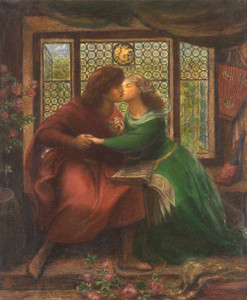 Art prints of Paolo and Francesca da Rimini by Dante Gabriel Rossetti