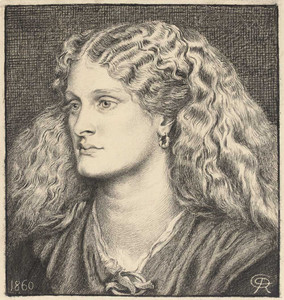 Art prints of Portrait of Annie Miller by Dante Gabriel Rossetti