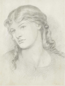Art prints of Portrait of Alexa Wilding by Dante Gabriel Rossetti