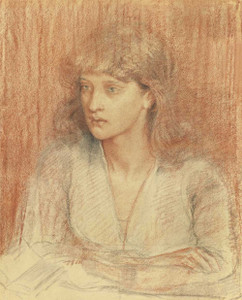 Art prints of Portrait of May Morris by Dante Gabriel Rossetti