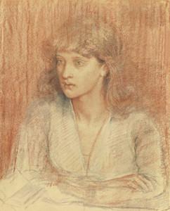 Art prints of Portrait of May Morris by Dante Gabriel Rossetti