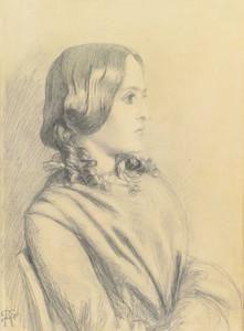 Art prints of Portrait of Margaret Thompson by Dante Gabriel Rossetti