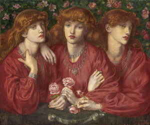 Art prints of Rosa Triplex a Triple Portrait of May Morris by Dante Gabriel Rossetti
