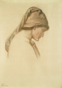 Art prints of Study for the Head of Dante by Dante Gabriel Rossetti
