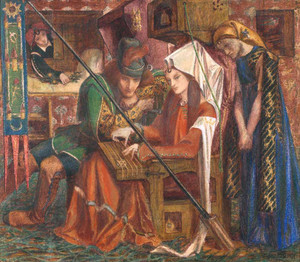 Art prints of The Tune of Seven Towers by Dante Gabriel Rossetti
