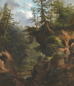 Art prints of The Caves by Robert S. Duncanson