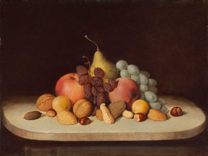 Art prints of Still Life with Fruit and Nuts by Robert S. Duncanson