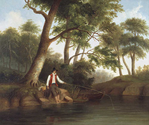 Art prints of Man Fishing by Robert S. Duncanson