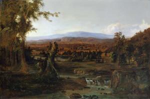 Art prints of Landscape with Shepherd by Robert S. Duncanson