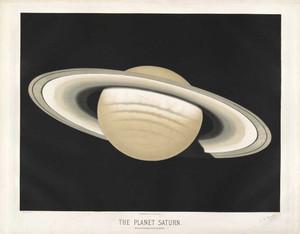Art prints of The Planet Saturn, 1874 by Étienne Léopold Trouvelot