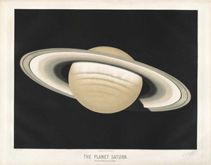 Art prints of The Planet Saturn, 1874 by Étienne Léopold Trouvelot