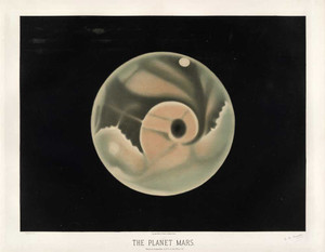 Art prints of The Planet Mars, 1877 by Étienne Léopold Trouvelot