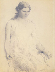Art prints of Study of a Young Woman by Abbott H. Thayer