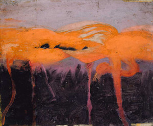 Art prints of Red Flamingos by Abbott H. Thayer