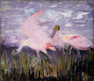 Art prints of Roseate Spoonbills by Abbott H. Thayer