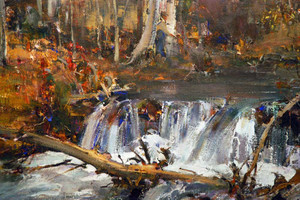 Giclee print of Beaver Dam or River Landscape by Nicolai Fechin