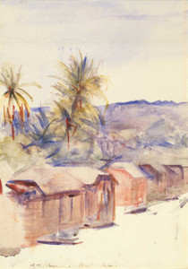 Art prints of Village Street, Dominica by Abbott H. Thayer