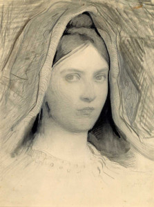 Art prints of Head of Mary B. Thayer by Abbott H. Thayer