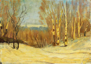 Giclee prints of Winter Near Montreal by Maurice Cullen