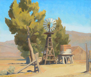Giclee prints of Ranch Windmill, Carson Nevada by Maynard Dixon