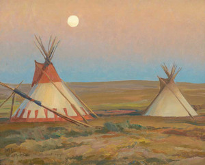 Giclee prints of Evening on the Blackfeet Reservation by Maynard Dixon