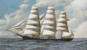 Giclee prints of The Clipper, Young American Under Full Sail by Antonio Jacobsen