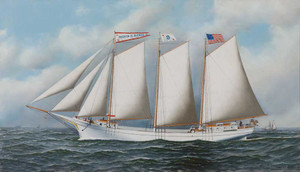 Giclee prints of Three Masted Schooner by Antonio Jacobsen