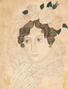 Giclee art prints of Woman with Roses in Her Hair by Emily Eastman