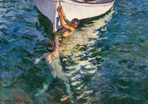 Giclee art prints of The White Boat, Javea, 1905 by Joaquin Sorolla y Bastida