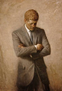 Art prints of John F. Kennedy, Official Portrait by Aaron Shikler