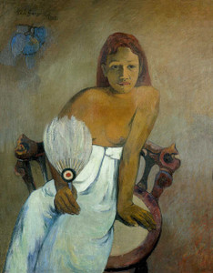 Giclee prints of Girl with a Fan, 1902 by Paul Gauguin