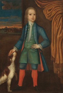 Art Prints of Boy in a Blue Coat by 18th Century American Artist