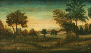 Art Prints of Landscape with Buildings by 18th Century American Artist