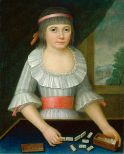 Art Prints of The Domino Girl by 18th Century American Artist
