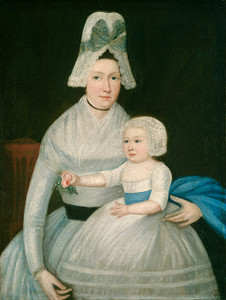 Art Prints of Mother and Child in White by 18th Century American Artist