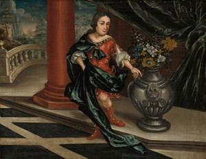 Art Prints of Young Man on a Terrace by 18th Century American Artist