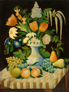 Art Prints of Flowers and Fruit by 19th Century American Artist