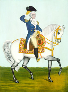 Art Prints of George Washington on a White Charger by 19th Century American Artist