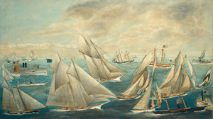 Art Prints of Regatta of America's Cup Winner by 19th Century American Artist